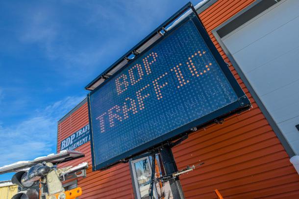 digital traffic board